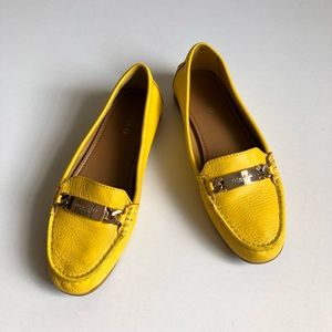 """Coach Yellow Mustard Loafers """"Olive"""" 6.5B"""